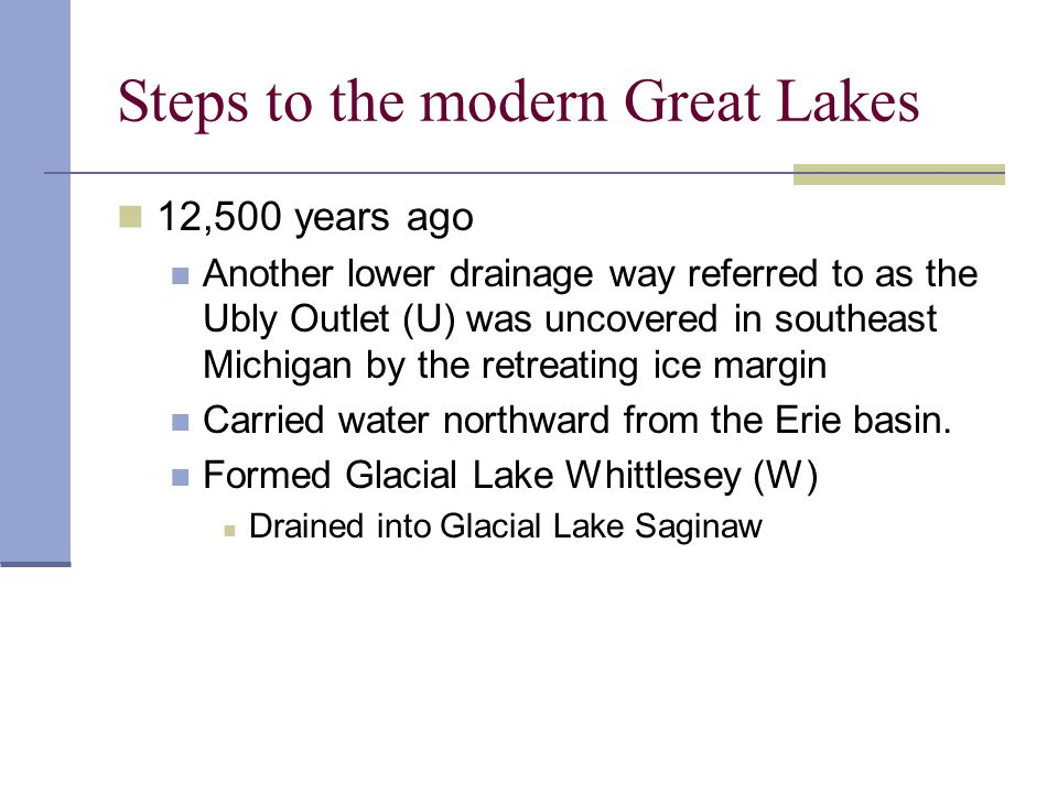 Steps to the modern Great Lakes