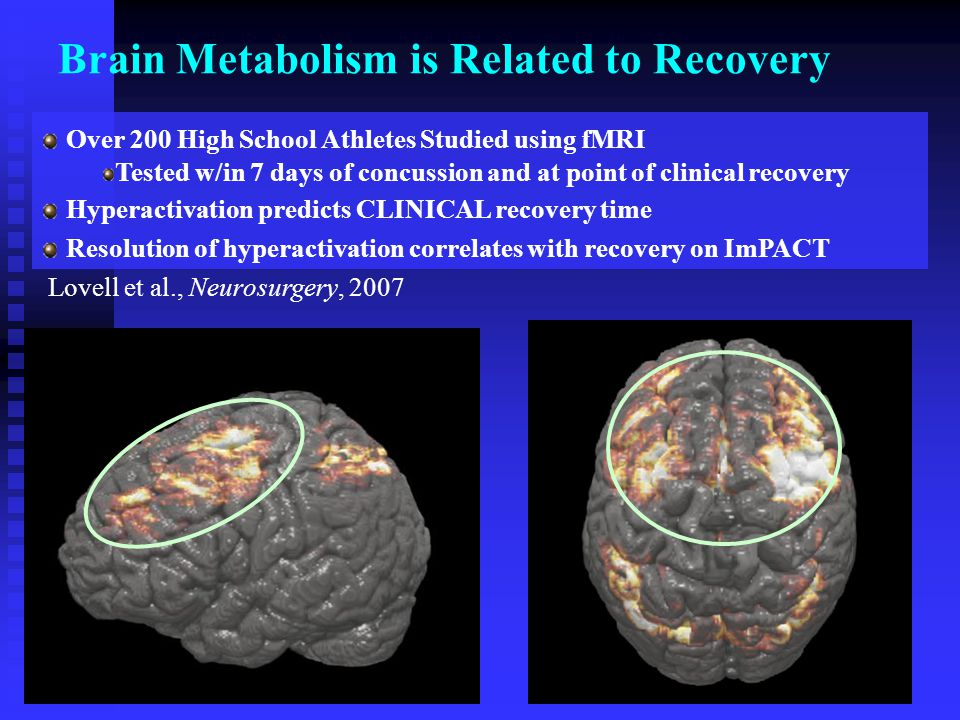 Brain Metabolism is Related to Recovery
