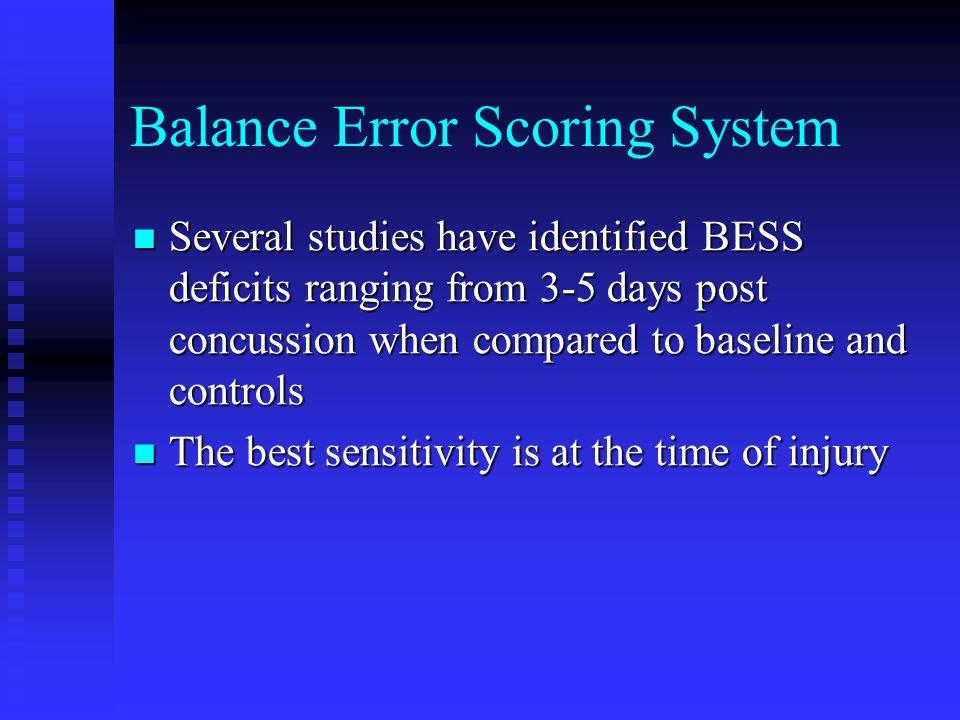 Balance Error Scoring System