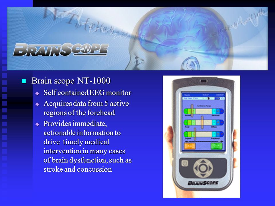 Brain scope NT-1000 Self contained EEG monitor