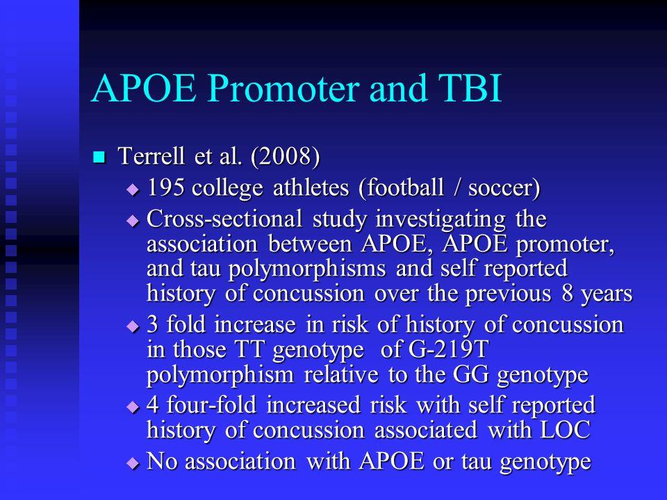 APOE Promoter and TBI Terrell et al. (2008)