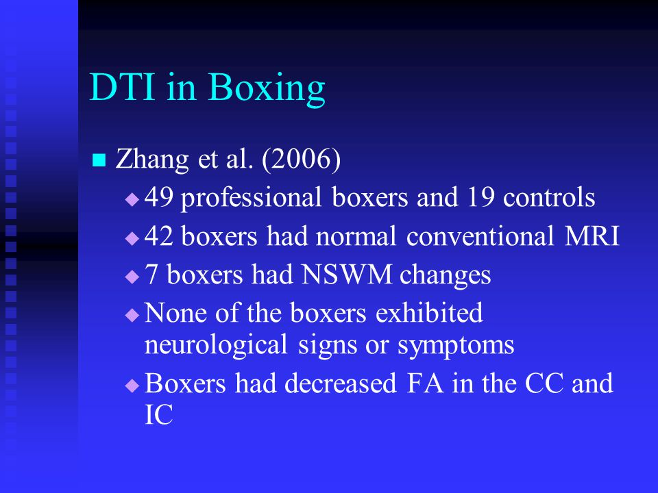 DTI in Boxing Zhang et al. (2006)