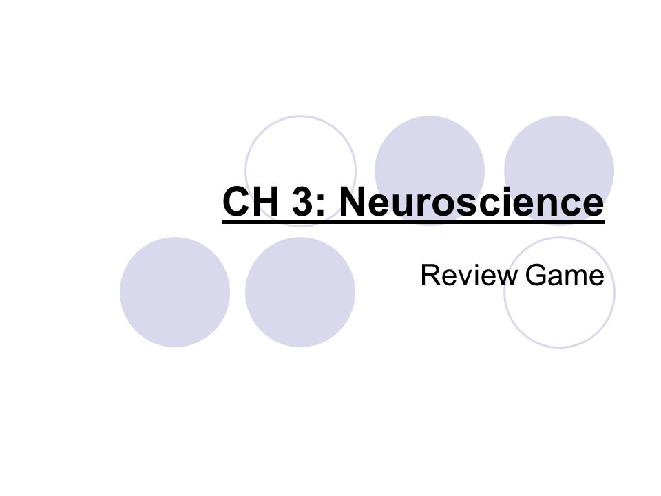 CH 3: Neuroscience Review Game