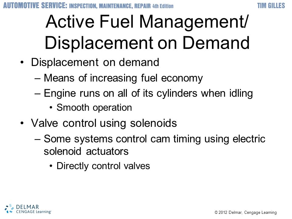 Active Fuel Management/ Displacement on Demand