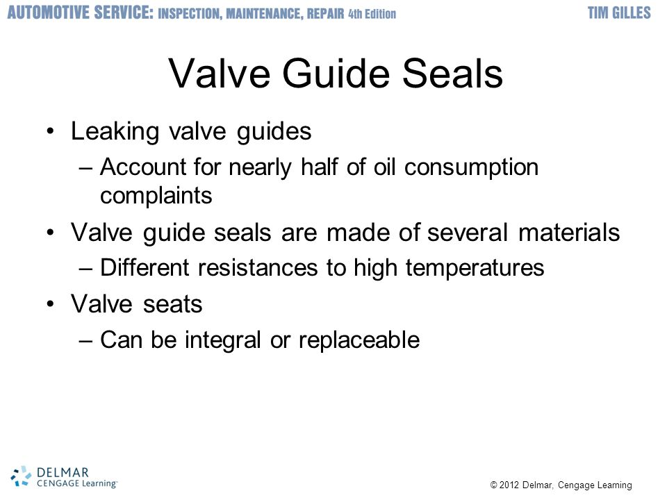 Valve Guide Seals Leaking valve guides