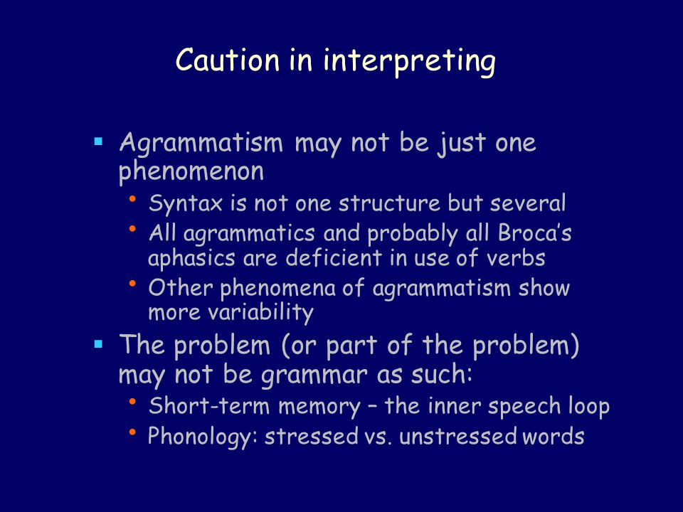 Caution in interpreting