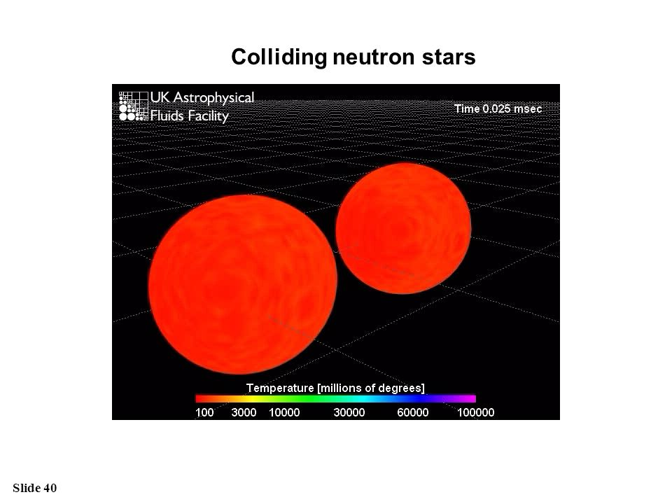 Colliding neutron stars