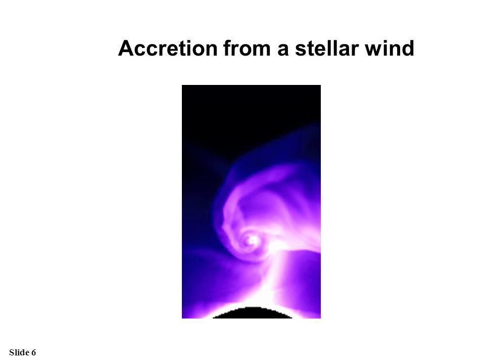 Accretion from a stellar wind