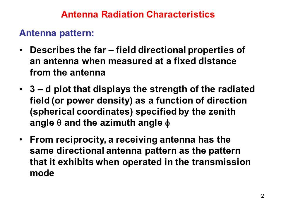 Antenna Radiation Characteristics