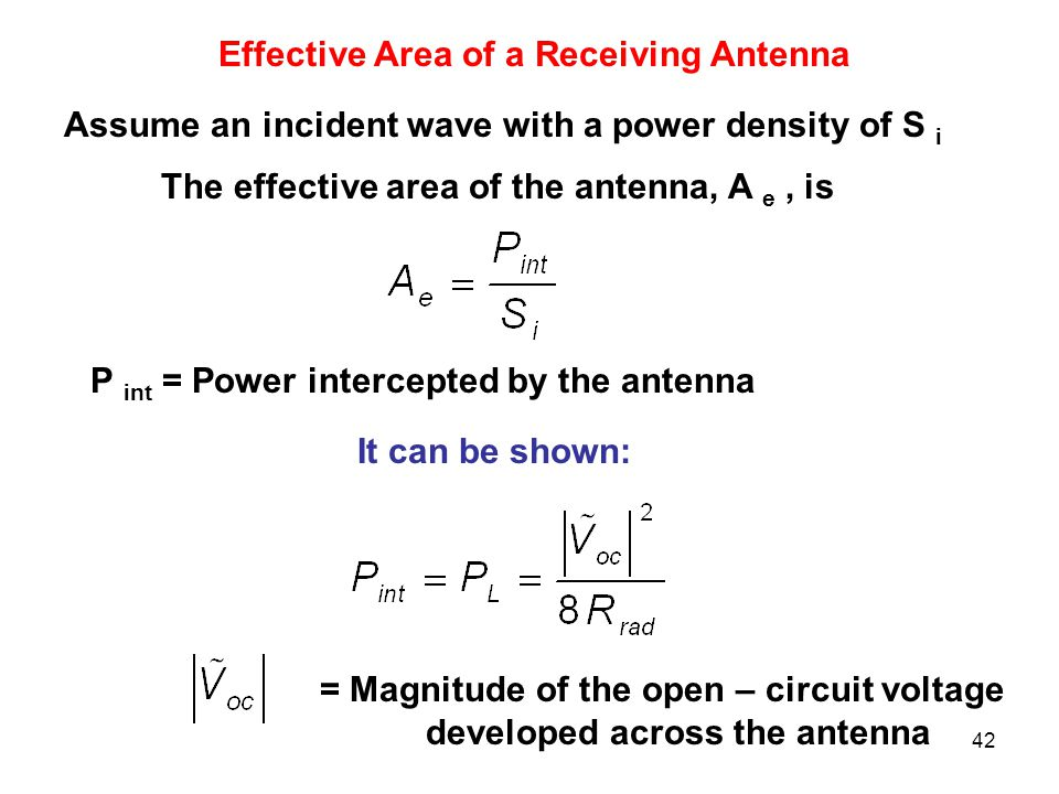Effective Area of a Receiving Antenna