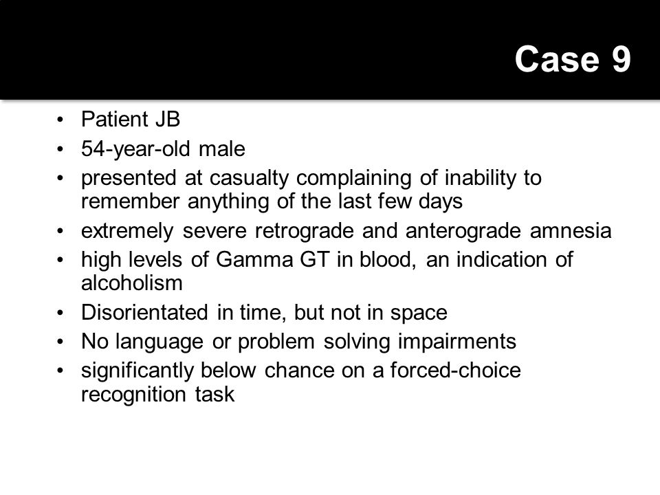 Case 9 Patient JB 54-year-old male