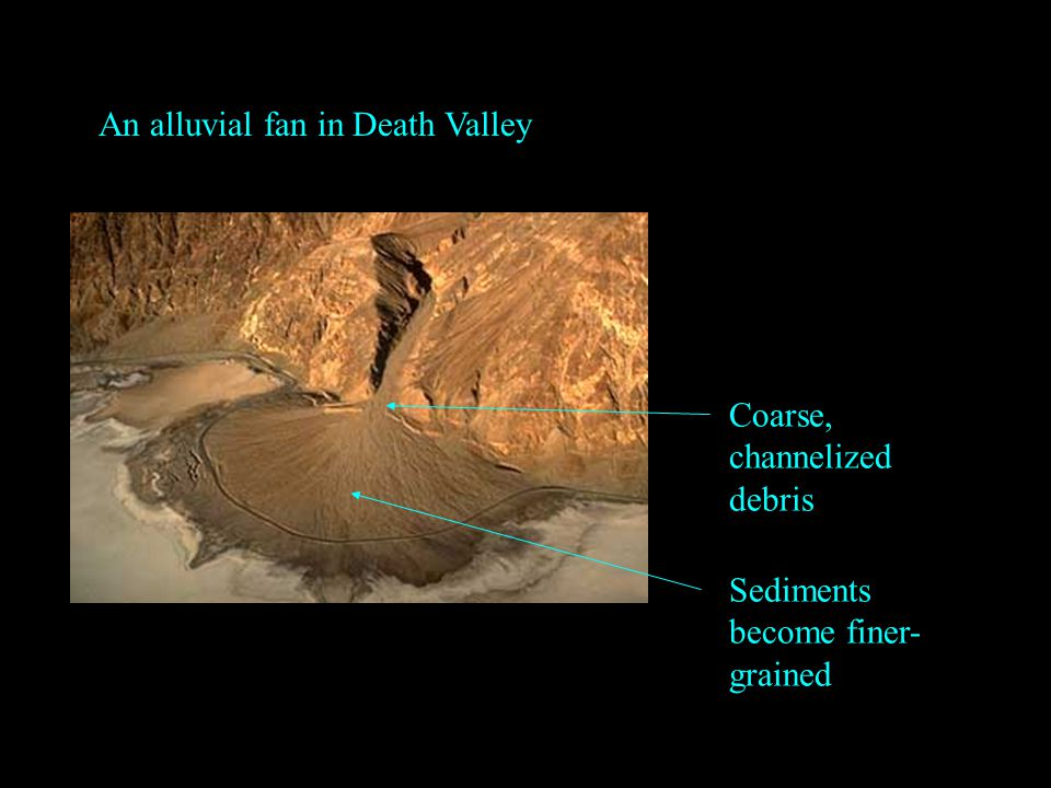 An alluvial fan in Death Valley