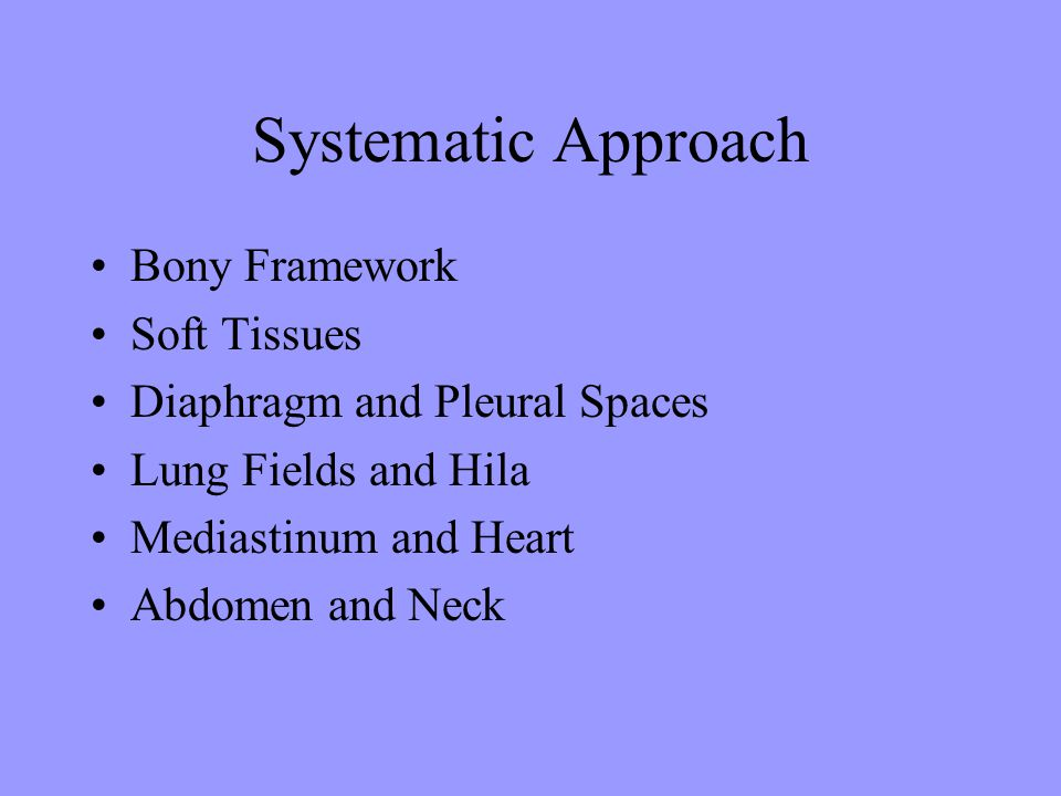 Systematic Approach Bony Framework Soft Tissues
