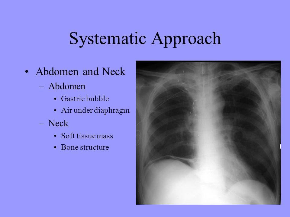Systematic Approach Abdomen and Neck Abdomen Neck Gastric bubble