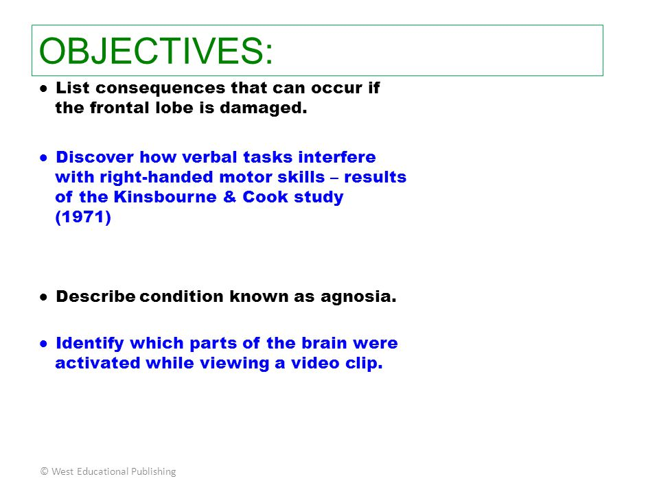 OBJECTIVES: ● List consequences that can occur if