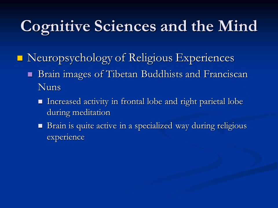 Cognitive Sciences and the Mind