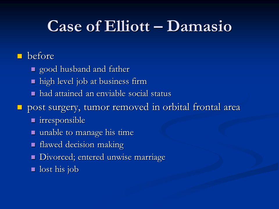 Case of Elliott – Damasio