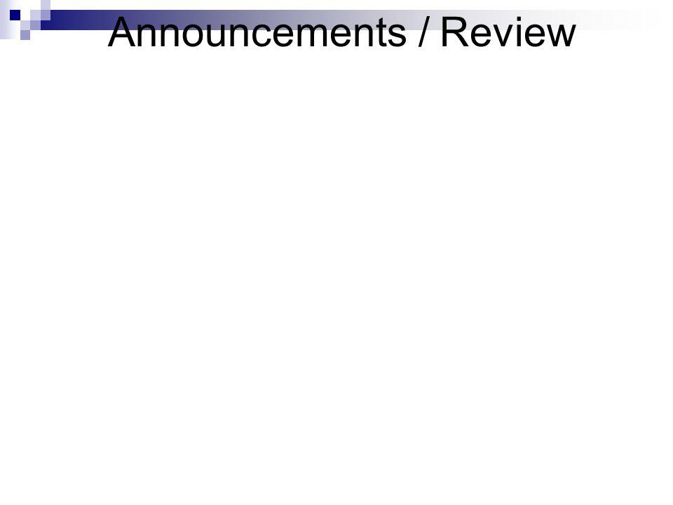 Announcements / Review