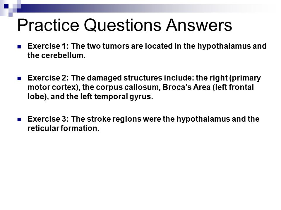 Practice Questions Answers