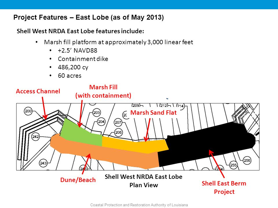 Shell West NRDA East Lobe Shell East Berm Project