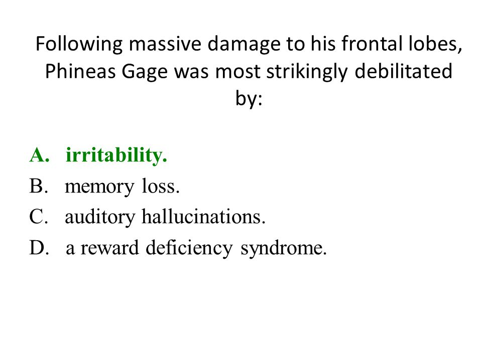 Following massive damage to his frontal lobes, Phineas Gage was most strikingly debilitated by: