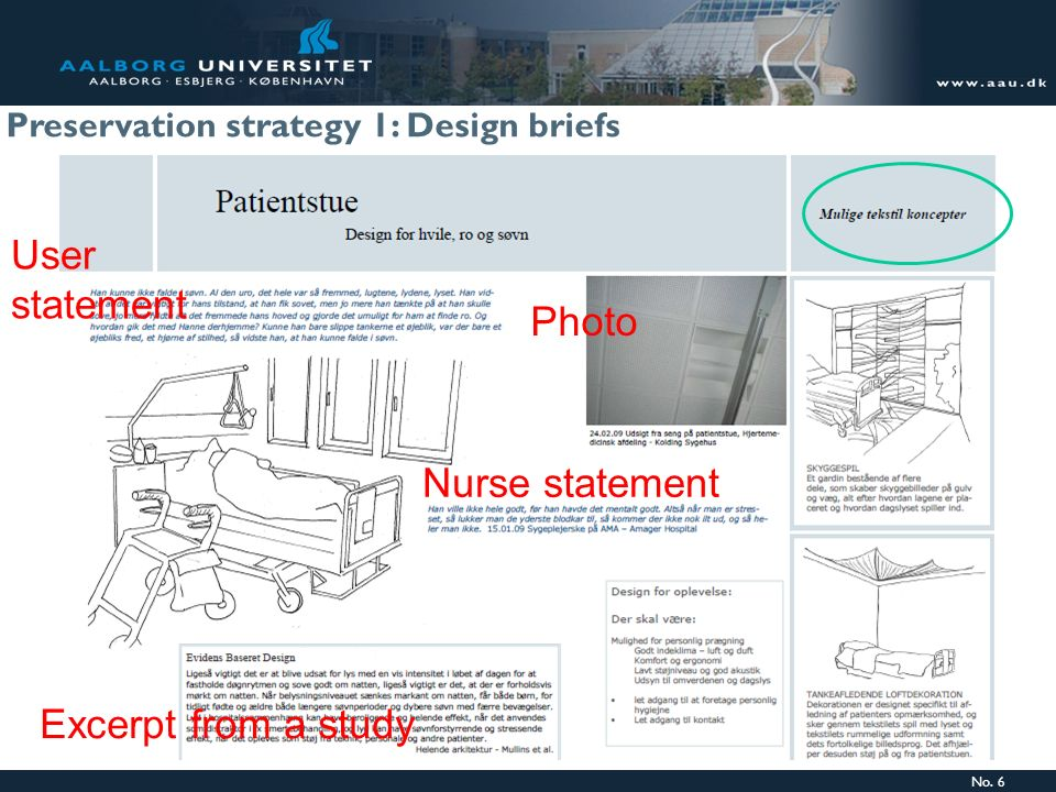 User statement Photo Nurse statement Excerpt from a study