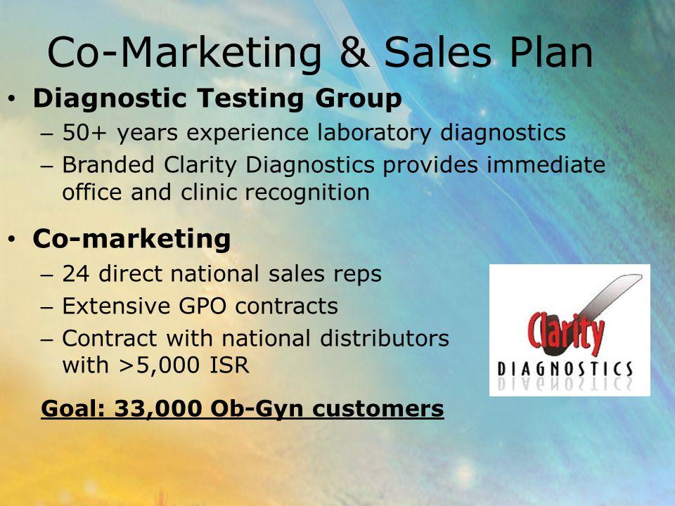 Co-Marketing & Sales Plan