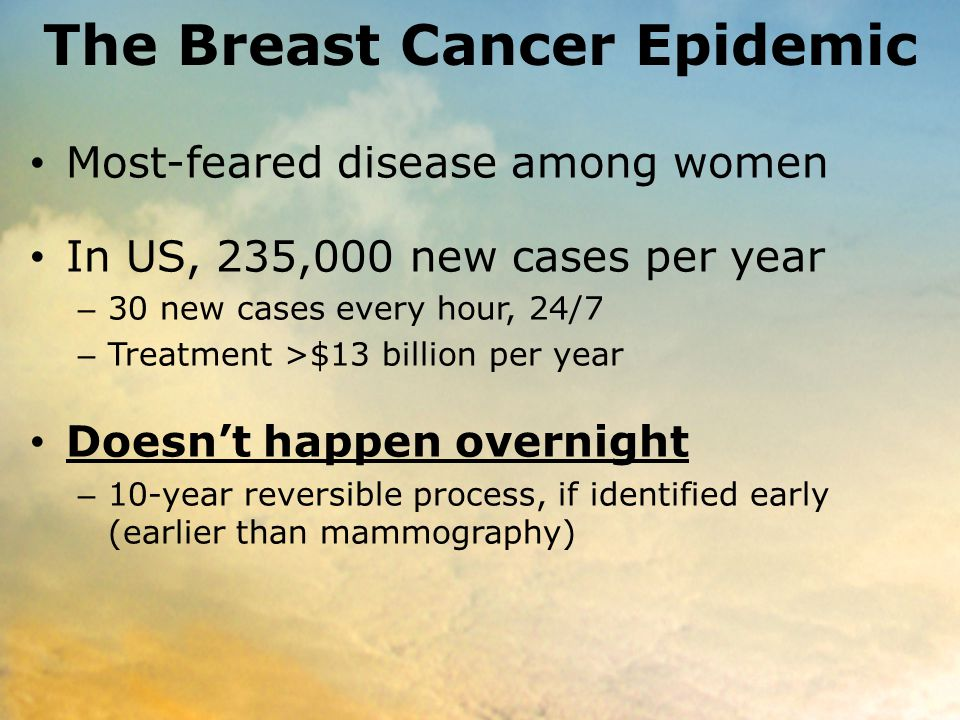 The Breast Cancer Epidemic