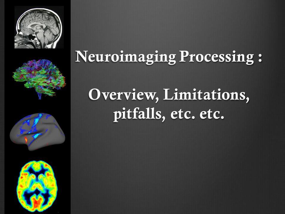 Neuroimaging Processing : Overview, Limitations, pitfalls, etc. etc.