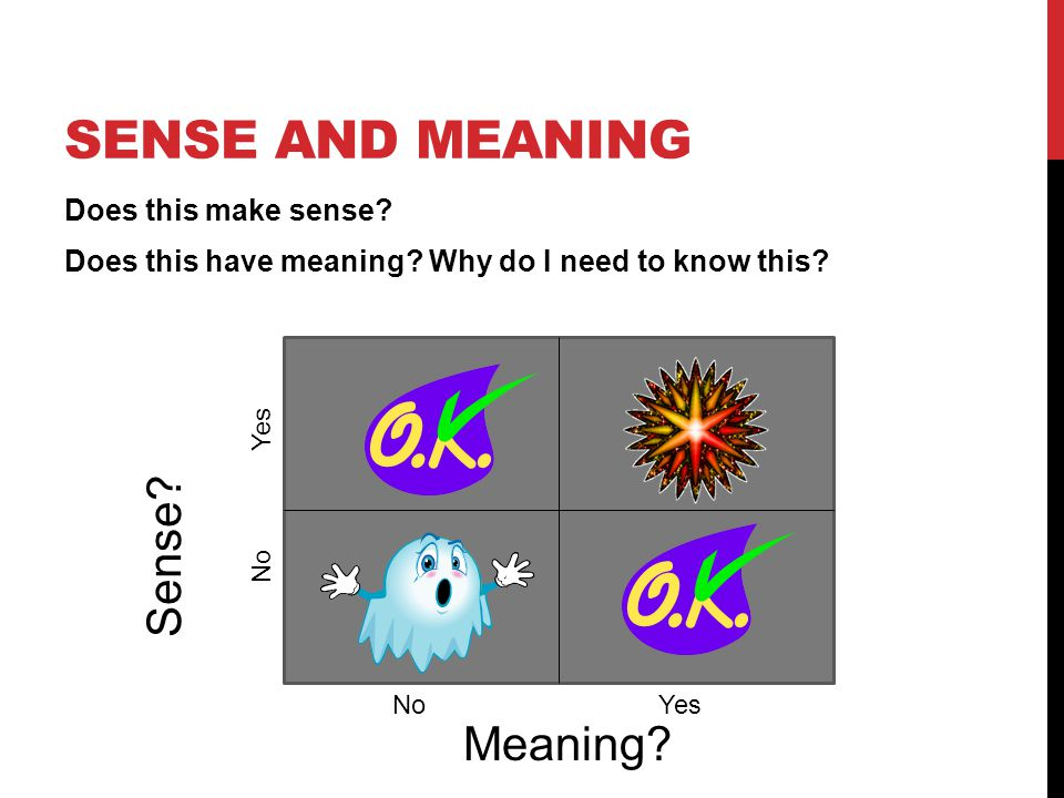 Sense and Meaning Sense Meaning