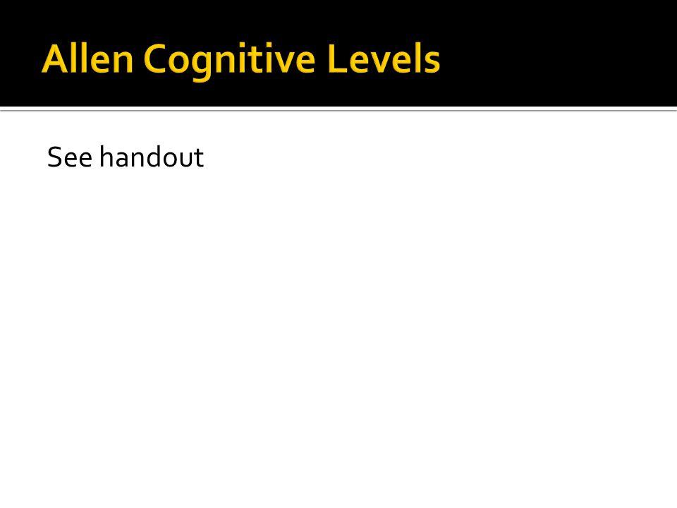 Allen Cognitive Levels