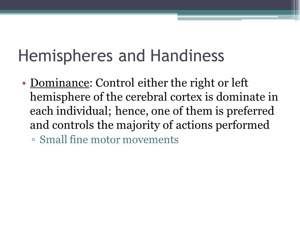 Hemispheres and Handiness
