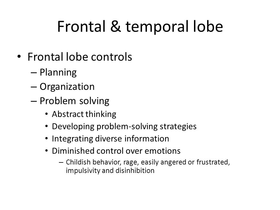 Frontal & temporal lobe