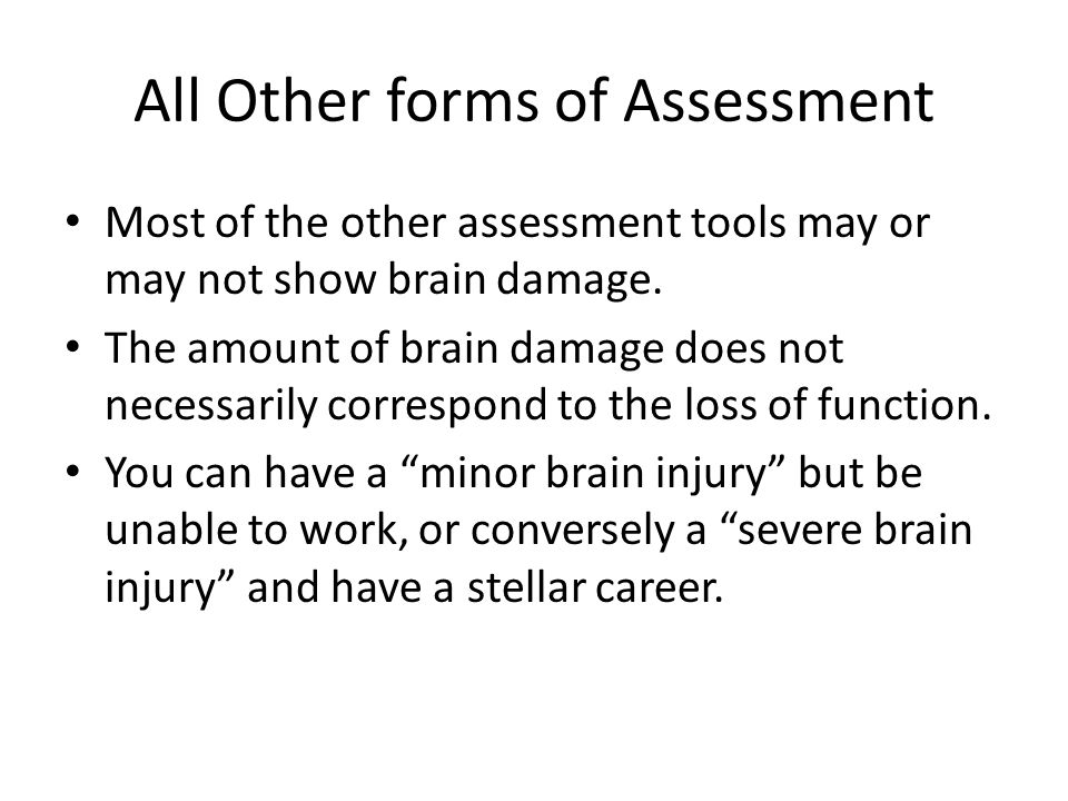 All Other forms of Assessment