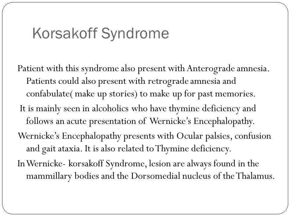 Korsakoff Syndrome