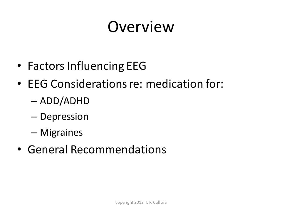 Overview Factors Influencing EEG