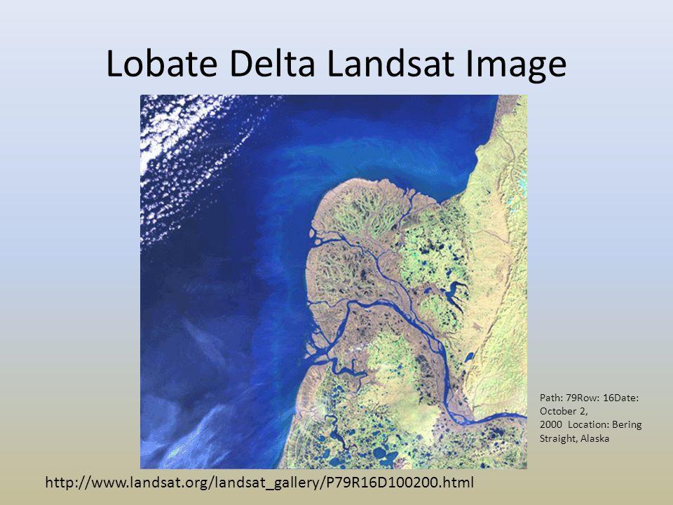 Lobate Delta Landsat Image