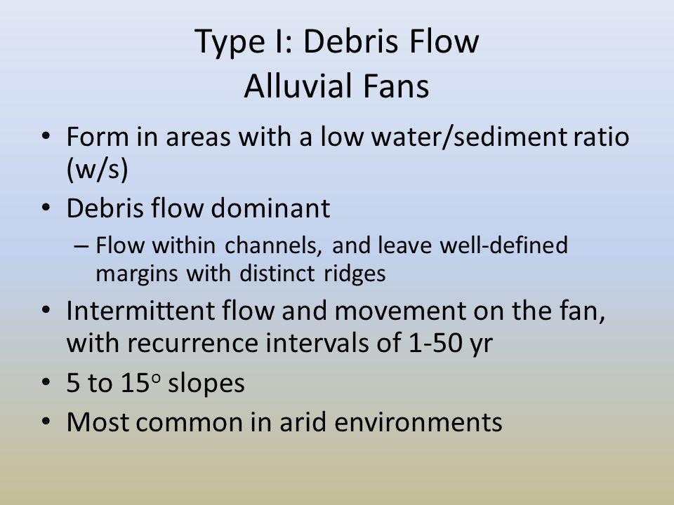 Type I: Debris Flow Alluvial Fans