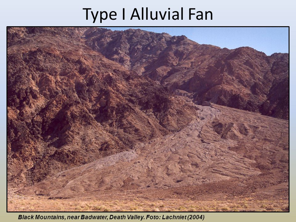 Type I Alluvial Fan Black Mountains, near Badwater, Death Valley. Foto: Lachniet (2004)
