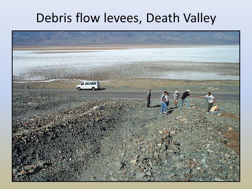 Debris flow levees, Death Valley
