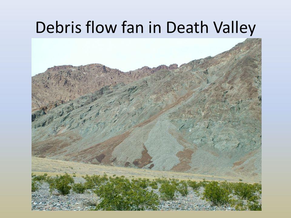 Debris flow fan in Death Valley