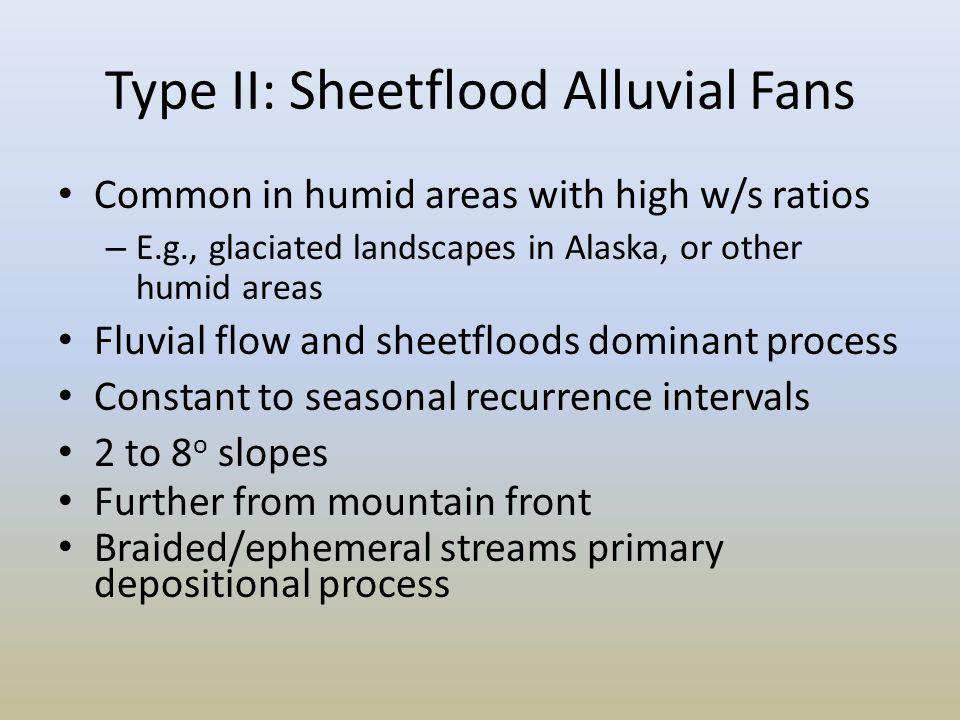 Type II: Sheetflood Alluvial Fans
