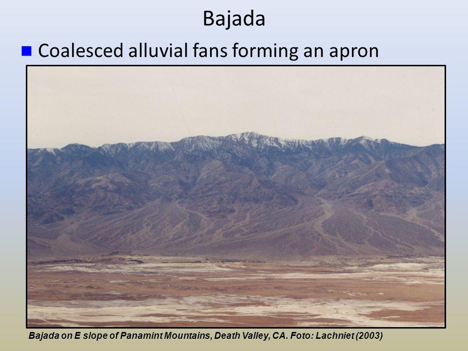 Bajada Coalesced alluvial fans forming an apron