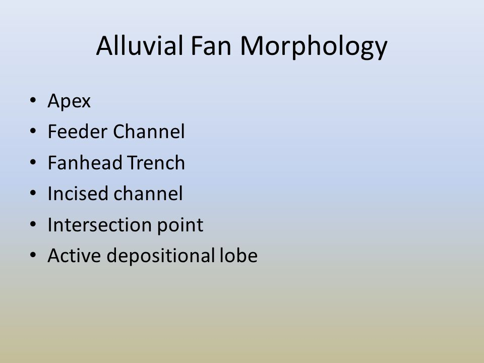 Alluvial Fan Morphology