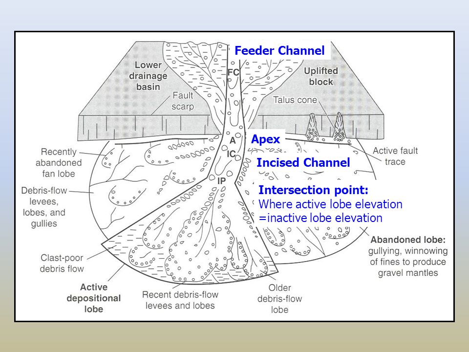 Fig. 7.20 A Feeder Channel Apex Incised Channel Intersection point: