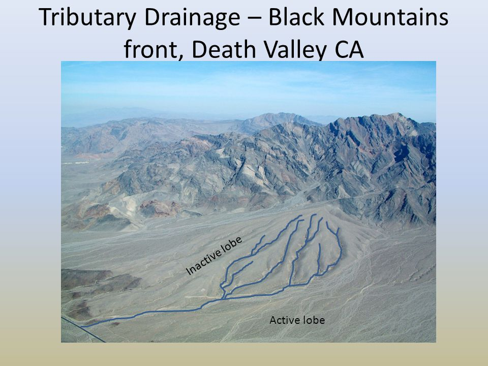 Tributary Drainage – Black Mountains front, Death Valley CA