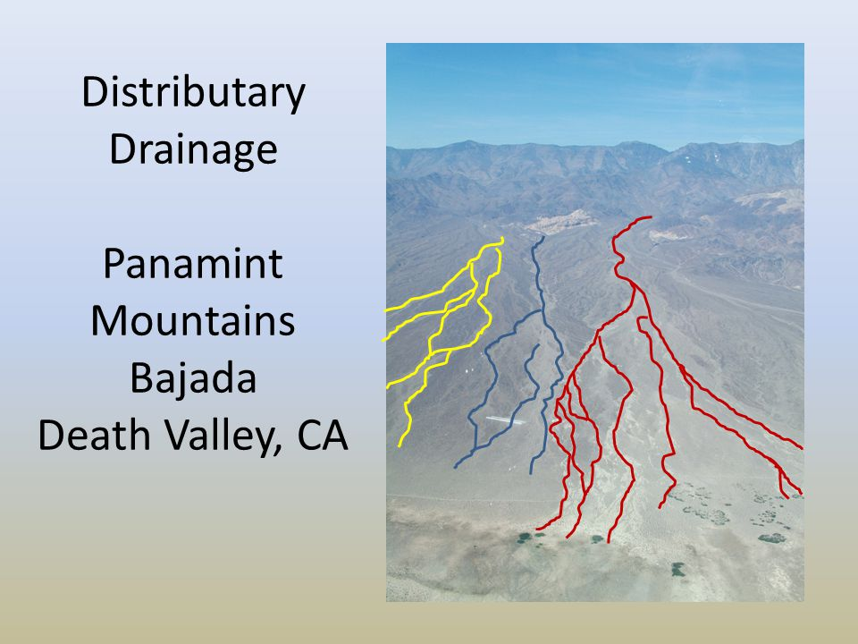 Distributary Drainage Panamint Mountains Bajada Death Valley, CA
