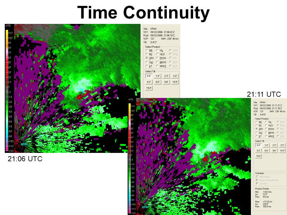 Time Continuity 21:11 UTC 21:06 UTC