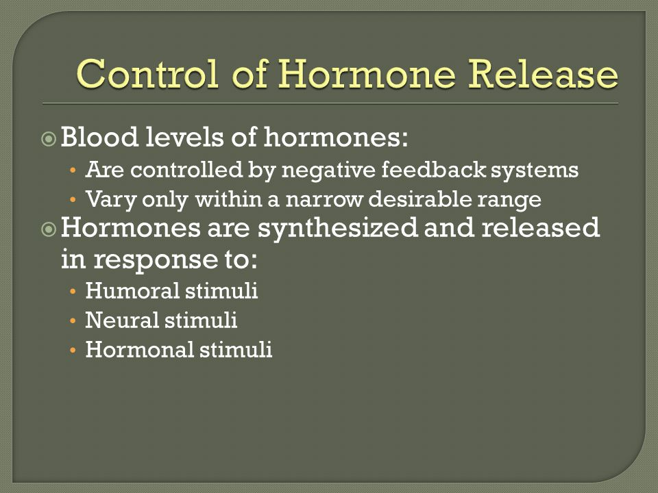 Control of Hormone Release