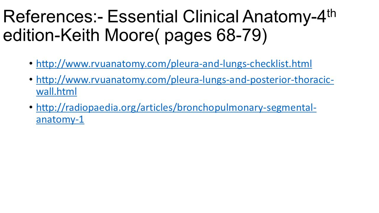 References:- Essential Clinical Anatomy-4th edition-Keith Moore( pages 68-79)